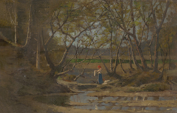 Ferdinand Katona – Girl by a Brook