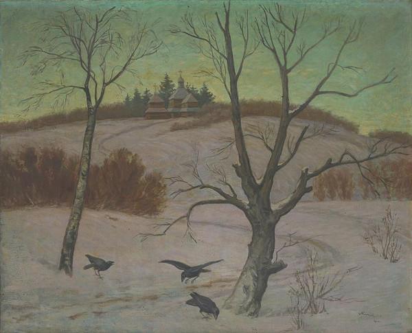 Andrej Kováčik – Winter Landscape with a Church
