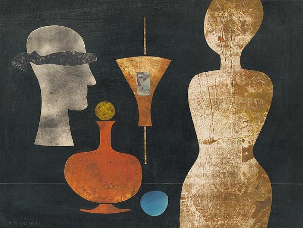 Andrej Barčík – Still Life with a Figure