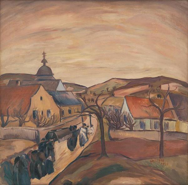 František Foltýn - Village with a Funeral Procession