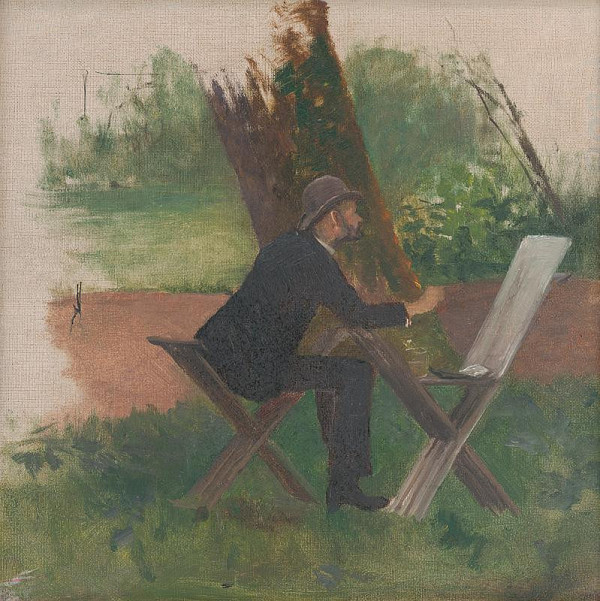 Ferdinand Katona – Maliar Mednyánszky v teréne (?)