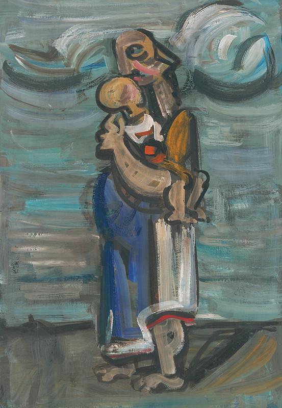 Július Lőrincz – Mother with a Child IV.