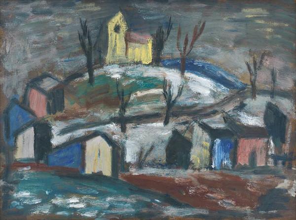 Ernest Zmeták - Landscape with a Chapel