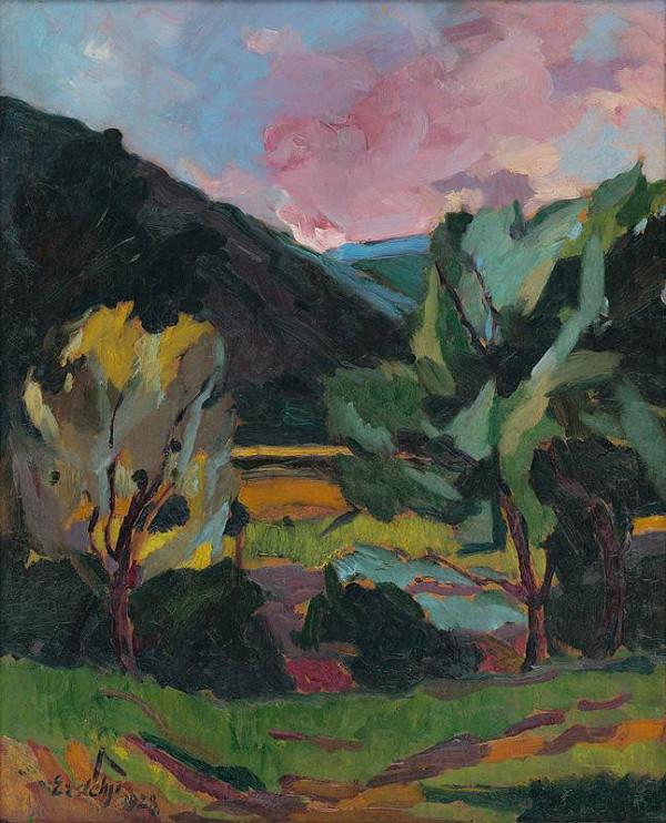 Vojtech Erdélyi – View of Landscape