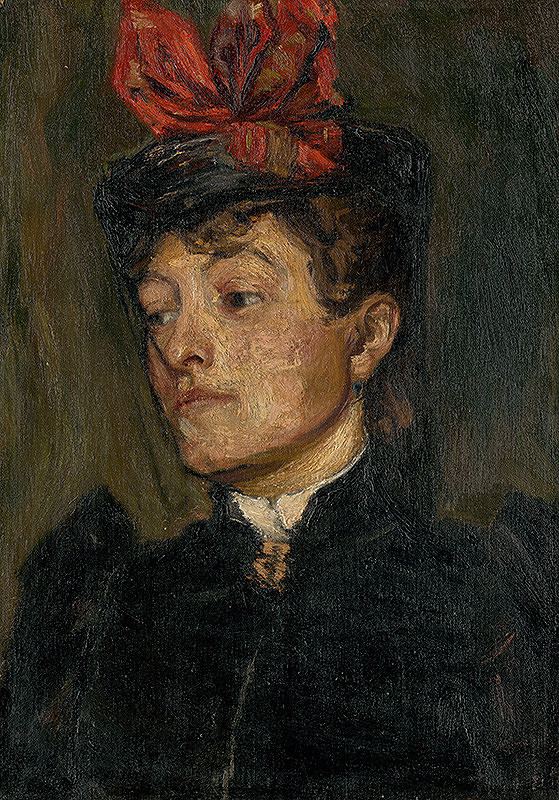 Jozef Hanula – Head of a Lady in a Hat