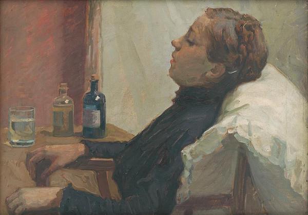 Elemír Halász-Hradil – Sick Woman