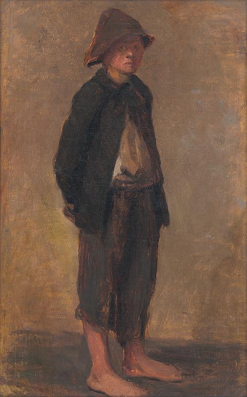 Elemír Halász-Hradil - Study of a Standing Boy