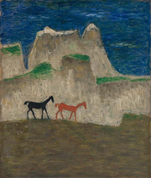 Ervín Semian – Red and Black Horse