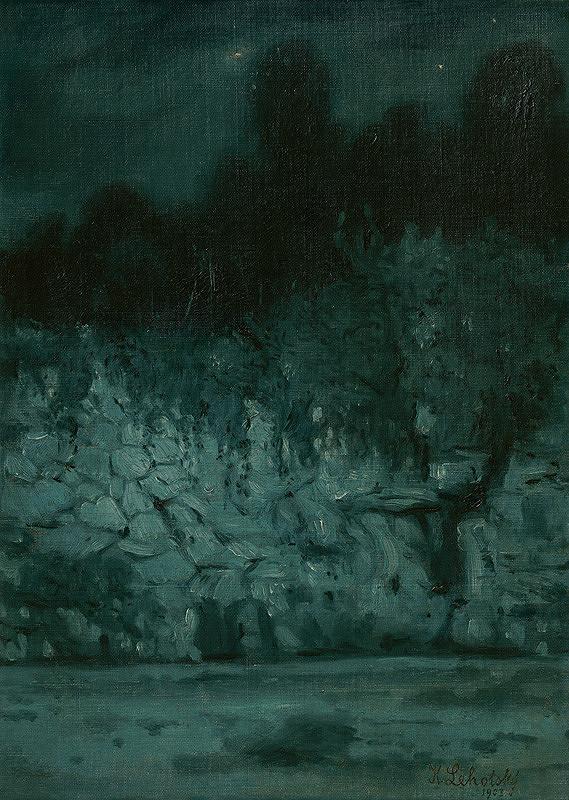 Karol Miloslav Lehotský – Evening Landscape