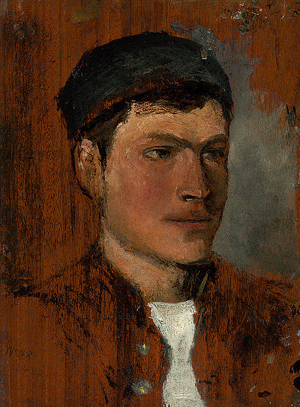 Ladislav Mednyánszky - Young Man with a White Cravat