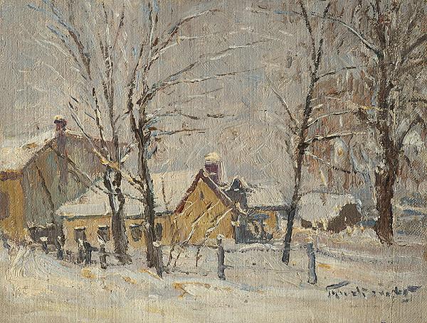 František Gyurkovits - Winter Motif from Lučenec