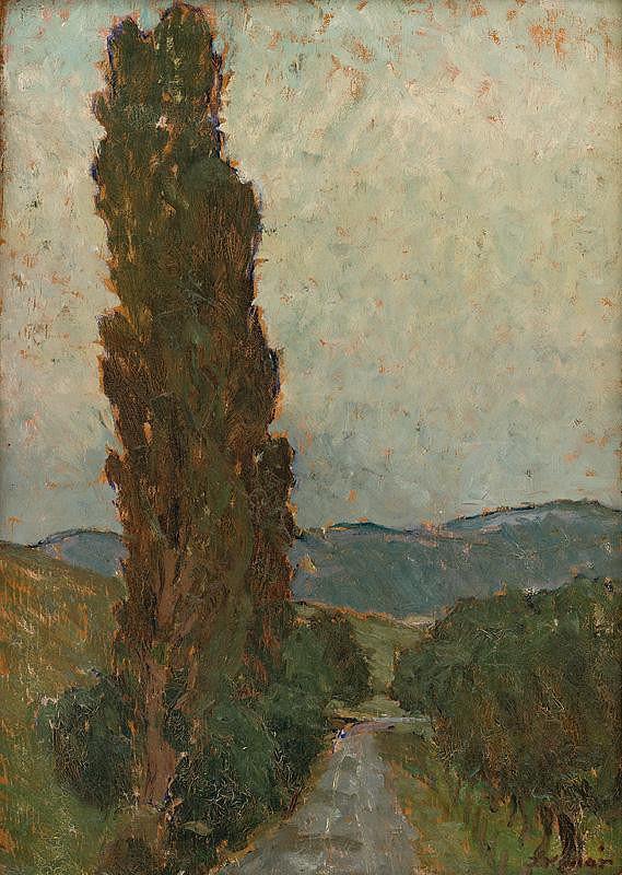 Jozef Kollár - Poplars by the Road