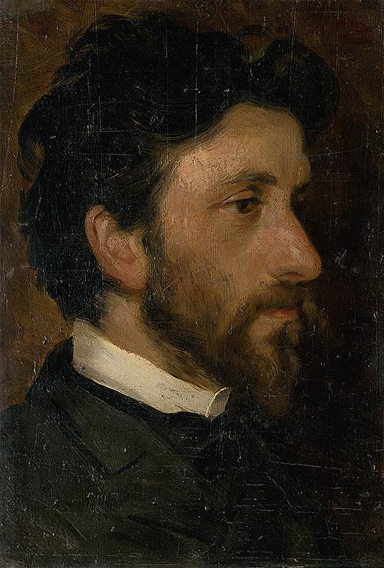 Ľudovít Pitthordt - Head Study of a Man