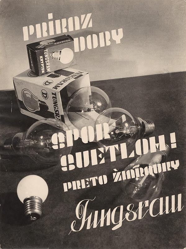 Miloš Dohnány – Advertisement for Tungsram Ligh Bulbs
