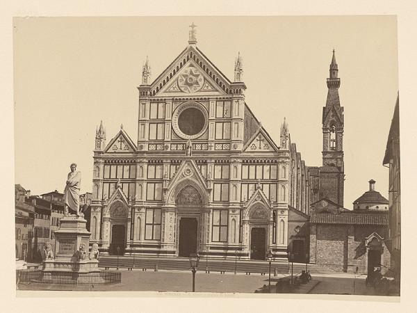 Neznámy autor – Florencia. Socha Danteho pred Bazilikou di Santa Croce (Basilica di Santa Croche)