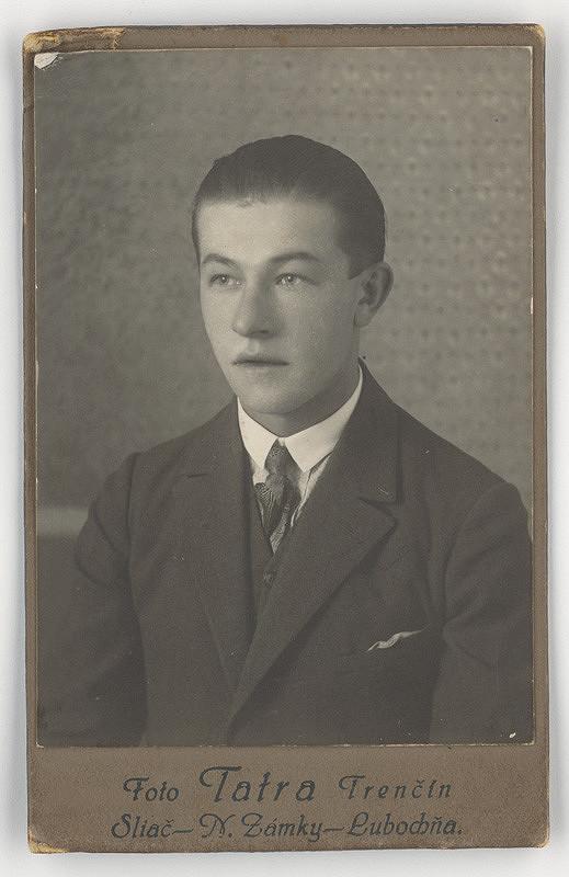 Foto Tatra – Portrét mladého muža