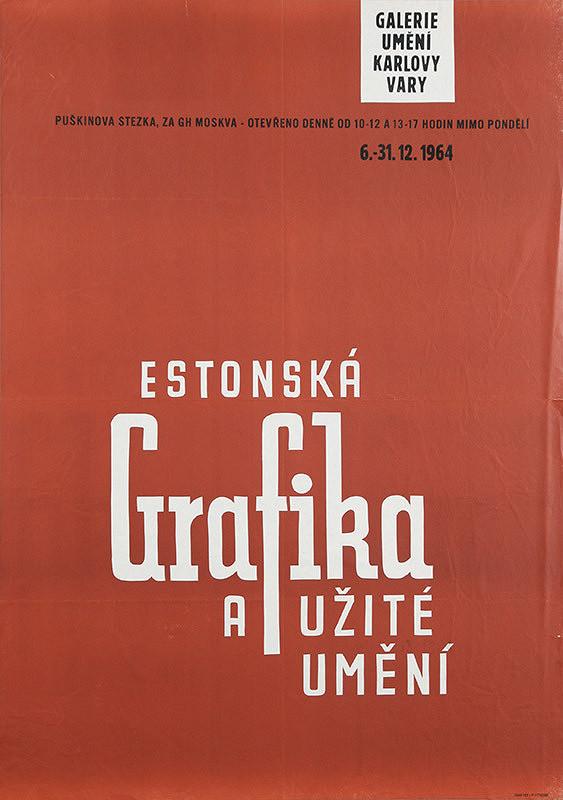 Karlovarský autor – Estónska grafika a užité umenie