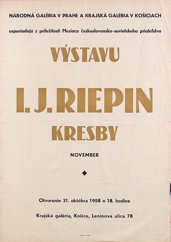 Slovenský autor – Kresby - I.J.Riepin