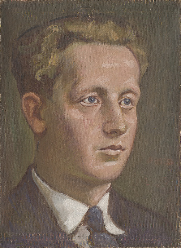 Milan Thomka Mitrovský – Portrét modrookého muža