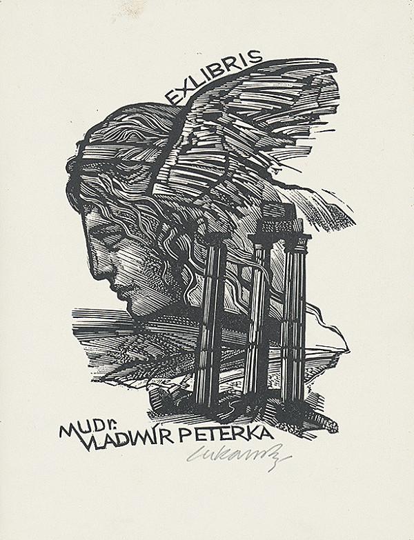 Jaroslav Lukavský – Ex libris MUDr. Vladimíra Peterku