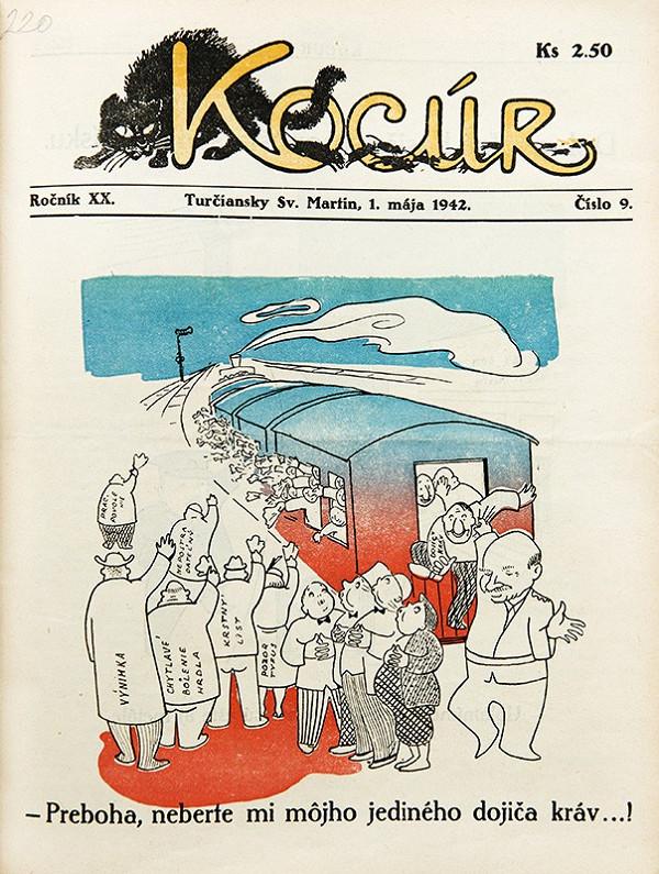 Neznámy autor - Protižidovské karikatúry z humoristického časopisu Kocúr