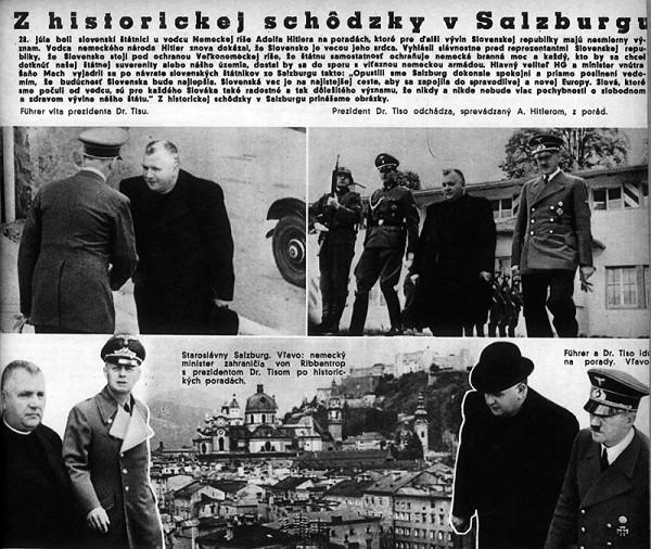 Neznámy autor – Prijatie prezidenta Jozefa Tisa Adolfom Hitlerom v Salzburgu.