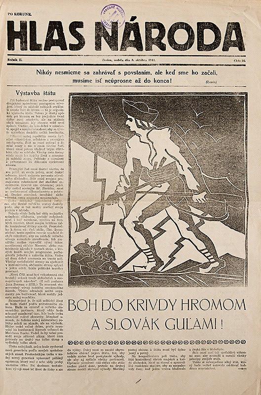 Neznámy autor – Obálka novín Hlas národa