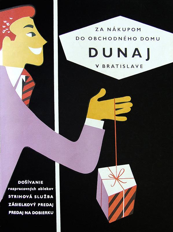 Neznámy autor – Za nákupom do Obchodného domu Dunaj v Bratislave, produktová reklama