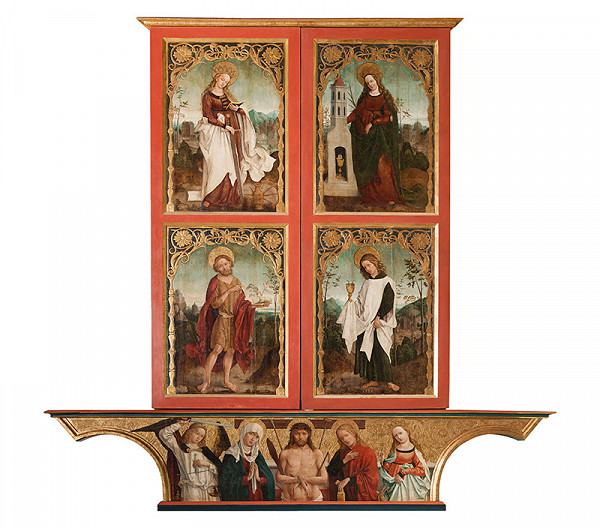 Majster z Okoličného, Košická dielňa – Oltár Navštívenia Panny Márie v Košiciach - pôstna strana
