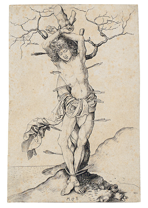 Martin Schongauer – Sv. Sebastian