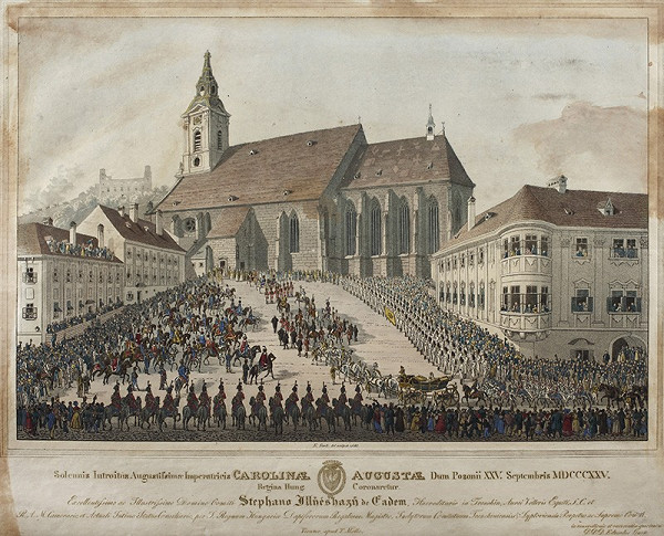 Eduard Gurk – Korunovácia Karolíny Augusty
