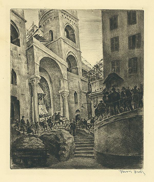 Eugen Krón – Čakanie (Zástupy mužov na milánskom námestí)