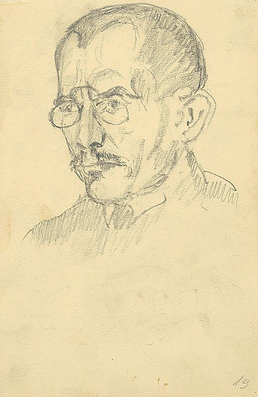 Konštantín Bauer – Štúdia hlavy muža