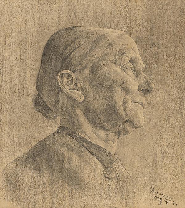 Ákos Aranyossy - Štúdia hlavy starenky