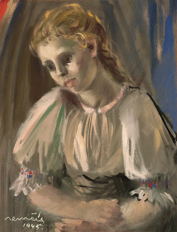 Július Nemčík – Dievča v kroji