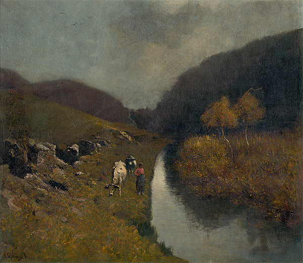 Béla Spányi - Krajina s kravami
