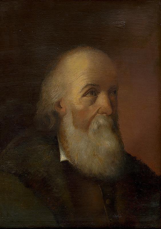 Stredoeurópsky maliar z 2. polovice 19. storočia - Hlava starca