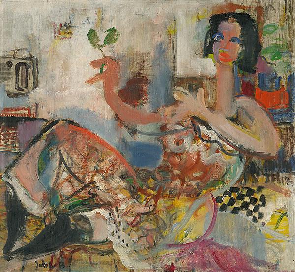 Július Jakoby - Žena s kvetom