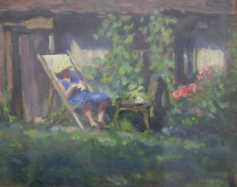Irena Slavinská - Oddych v záhrade, 1956