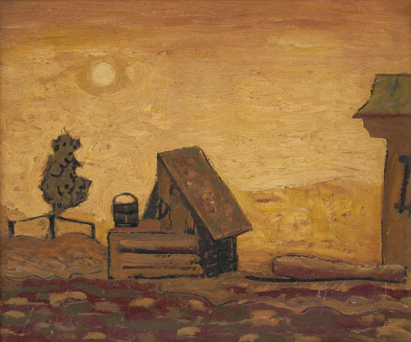 Miloš Alexander Bazovský - Studňa, 1949, Galéria Miloša Alexandra Bazovského, GBT