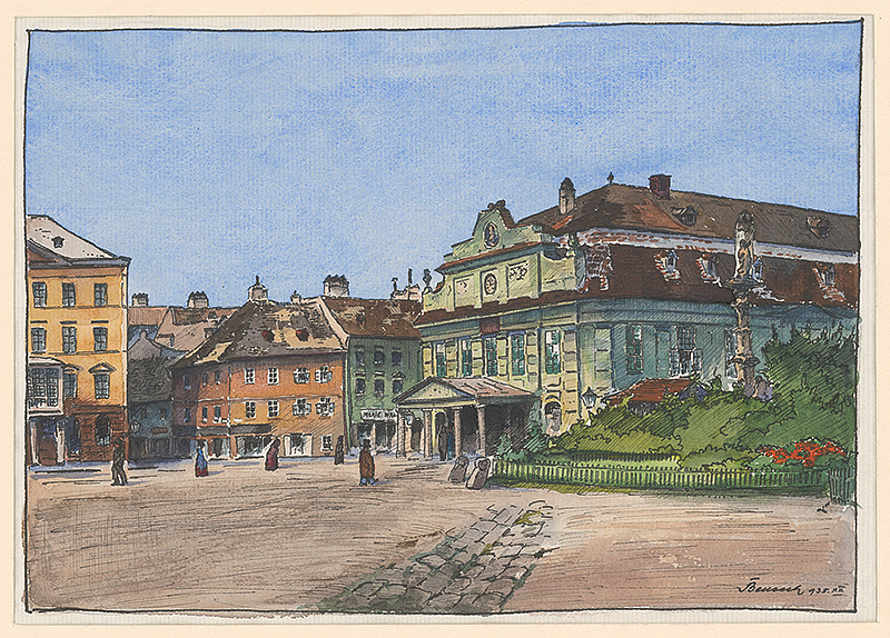 Viktor Benesch - Staré divadlo v Bratislave (1935), Galéria mesta Bratislavy, GMB