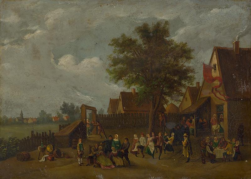 David Teniers ml. – Zábava pred krčmou, 18. storočie (GMB)