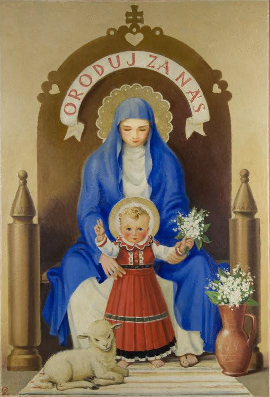 Karol Ondreička - Slovenská Madona, 1941, Galéria mesta Bratislavy
