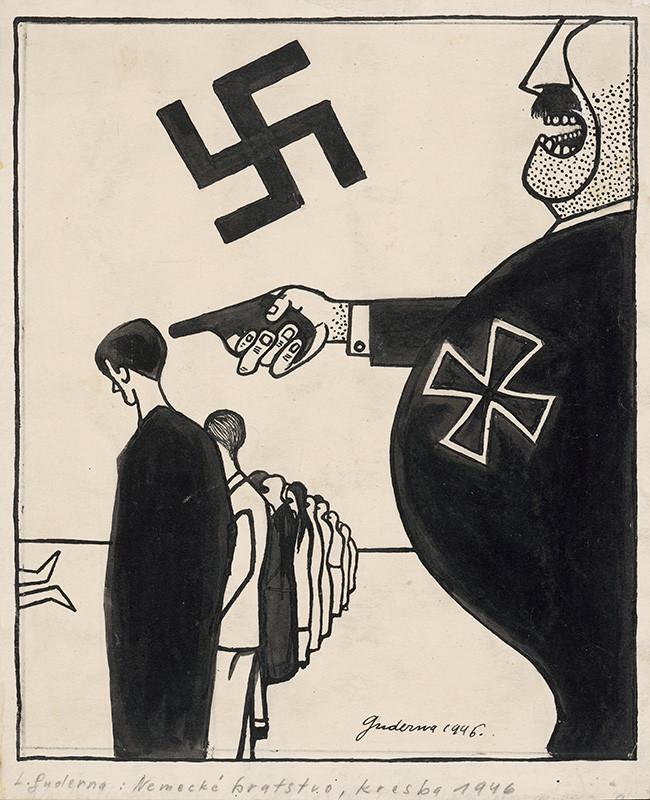 Ladislav Guderna - Satirická kresba 8.