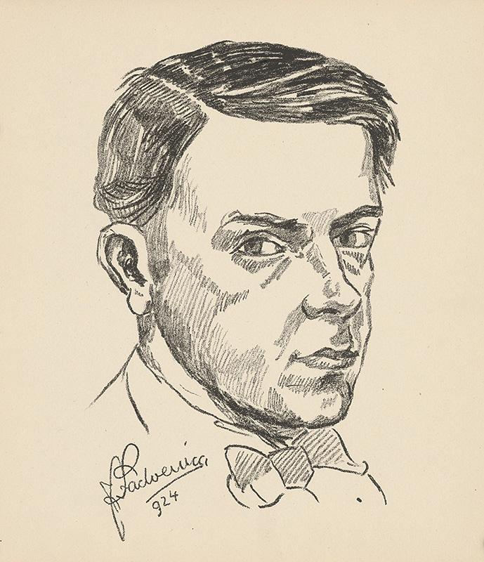 Ján Ladvenica - Autoportrét, 1924