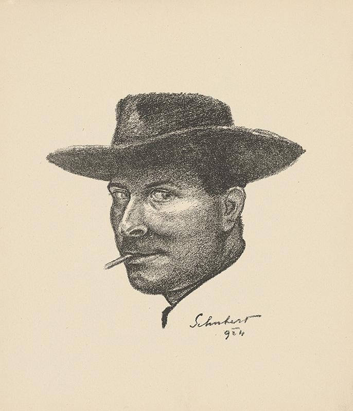 Július Schubert - Autoportrét, 1924