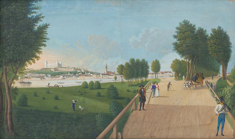 Sebastian Iohann Feitzelmayer - Petržalský park,  1825, Galéria mesta Bratislavy, GMB