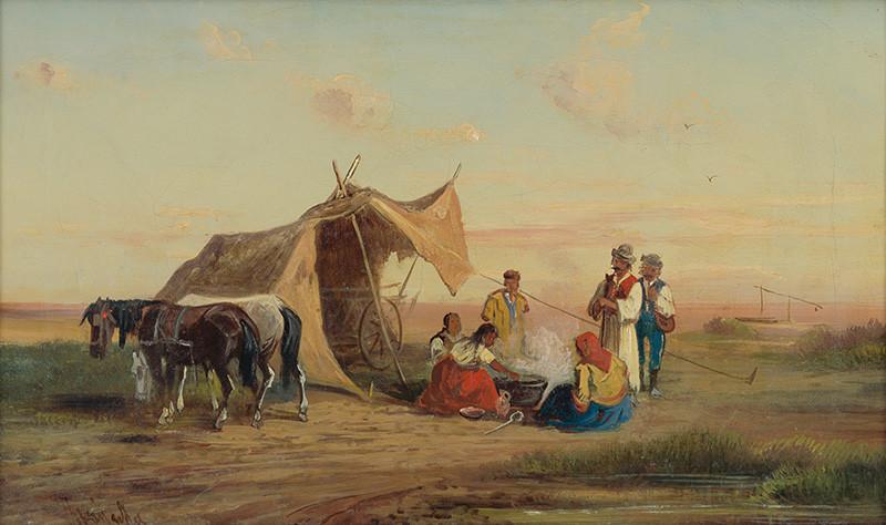 Alfréd Steinacker - Oddych na puste, po 1851