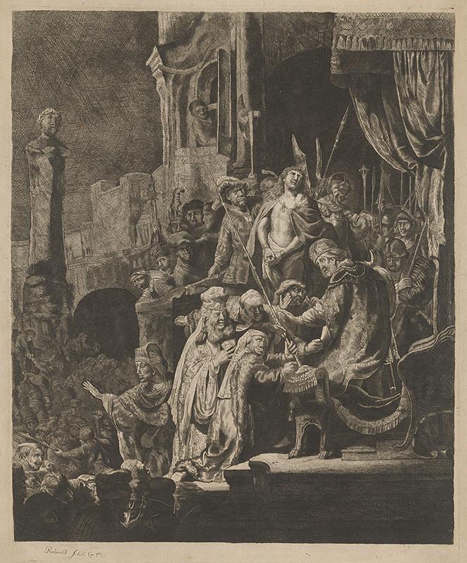 Rembrandt van Rijn, Jan Georg van Vliet (autor kópie) - Ecce homo, 1636, Galéria mesta Bratislavy