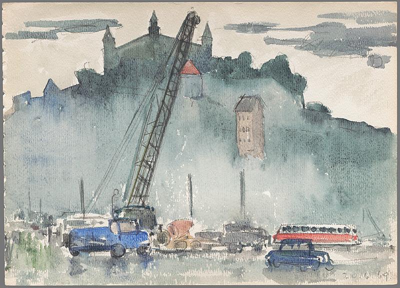 Imrich Weiner-Kráľ - Práce na asanovanom Podhradí (1969), Slovenská národná galéria